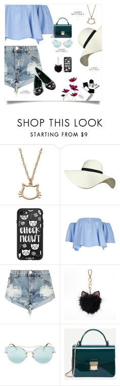 """Monday Blues"" by meenz92 ❤ liked on Polyvore featuring H&M, LC Lauren Conrad, Pilot, Casetify, OneTeaspoon, Miu Miu, WithChic, T.U.K., contestentry and polyvorefashion"