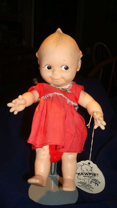 Vintage Kewpie Doll .... my sister had one like this but......she bit the curl off!