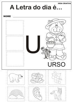 Atividades com as Vogais - A, E , I, O e U | Ideia Criativa - Gi Barbosa Educação Infantil