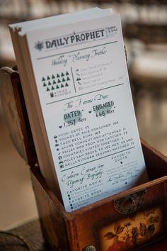 Harry Potter Themed Wedding | Daily Prophet Inspired Wedding Programs