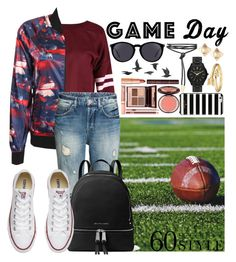 """""""60 Second Style: Game Day"""" by sealy913 ❤ liked on Polyvore featuring adidas, MICHAEL Michael Kors, Converse, Yves Saint Laurent, Bling Jewelry, Valentino, Michael Kors, Charlotte Tilbury, Kate Spade and Jayson Home"""