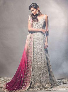 Show details for Ash grey fully embellished dress