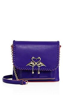Sophia Webster Claudie Major Flamingo Leather Crossbody Bag
