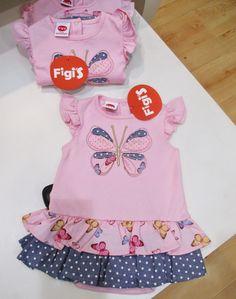 Vestido con doble falda mini en algodón Pima... LO mejor del verano lo tiene Figi's | Figi's