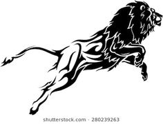 Abstract leaping lion with flame trail body stock vector Photo Background Images Hd, Photo Backgrounds, Lion Tattoo Design, Tattoo Designs, Flame Tattoos, Lion Images, Figure Sketching, Paper Birds, Tatoo Art