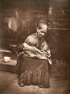 The Crawlers, London, 1876–1877, a photograph from John Thomson's Street Life in London photo-documentary