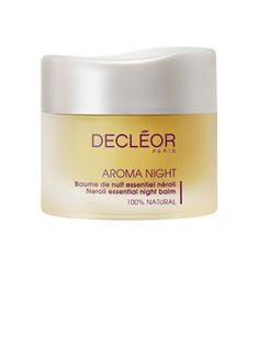 Decleor Essential Neroli Night Balm! Heavenly! This 100% natural, preservative-free balm acts on the condition of your skin to deliver an aromatic night-care treatment for all skin types. The lush, melt-in texture, when smoothed onto the face, dissolves perfectly into the skin.