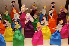 Disney DIY Princess party bag ideas, cheap, easy and fun... totally the cutites thing I've ever seen!!!