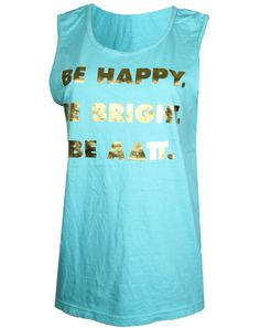 Alpha Delta Pi Be Happy Tank by Adam Block Design | Custom Greek Apparel & Sorority Clothes | www.adamblockdesign.com