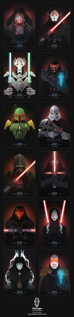 Star Wars Villains Illustrations - Fishfinger Creative Agency   Advertising   Branding   Design