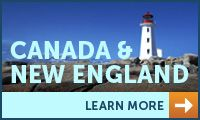 Feast on beauty, history and lobster! Go whale watching, experience the crisp autumn in Halifax, or snap photos of Quebec City's unique French-inspired architecture! Choose from 7 to 14-day cruises and see all that Canada & New England have to offer!