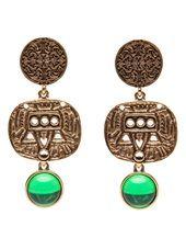 OSCAR DE LA RENTA - Aztec motif earrings