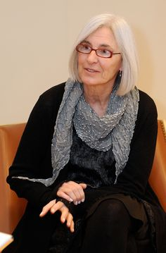 Eileen Fisher, entrepreneur and clothing designer, during a media interview before a fashion show at Saks Fifth Avenue.