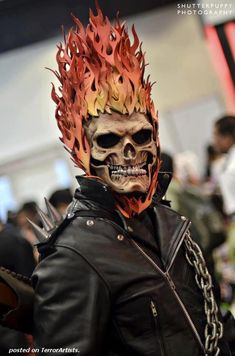 Ghost Rider. Rather amazing cosplay there