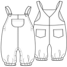 Browse our  sewing patterns Jean dungarees 0123 BABIES One-Piece
