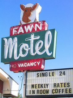 Fawn Motel ~ Old Neon Sign
