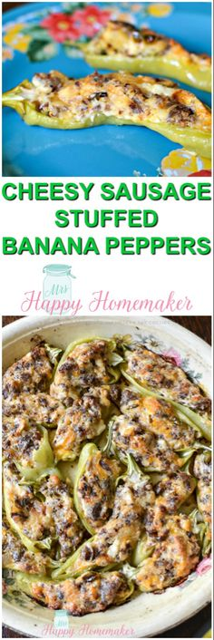 These Cheesy Sausage Stuffed Banana Peppers are not only delicious, but they are incredibly easy. 5 ingredients are all you need to make these & they are also freezer friendly. I just love these stuffed peppers so much! Recipes With Banana Peppers, Hot Banana Peppers, Green Pepper Recipes, Stuffed Banana Peppers, Banana Pepper Recipes, Hot Sausage Recipes, Beef Recipes, Water Recipes