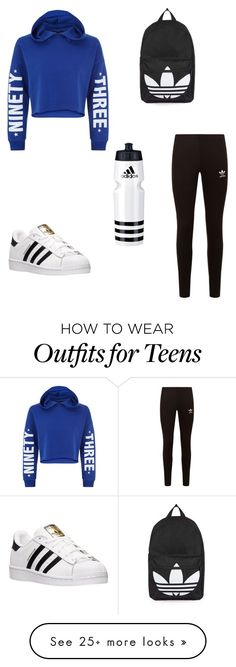 """""""Untitled #1"""" by explorer-14843679007 on Polyvore featuring New Look, adidas Originals, adidas and Topshop"""