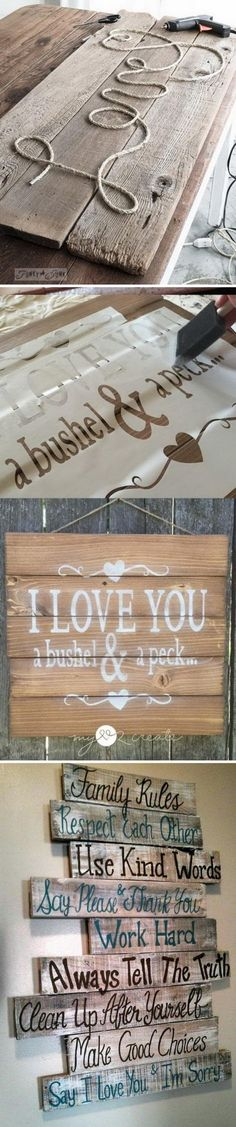 DIY Wood Pallet Signs With Tutorials