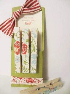 Clothes Pin Petite Pocket by SincerelyBabette - Cards and Paper Crafts at Splitcoaststampers