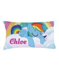 Look at this My Little Pony Rainbow Dash Personalized Pillowcase on #zulily today!