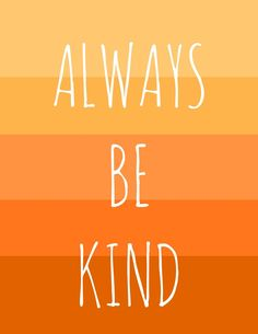 Be Kind Printable. - The Pretty Bee