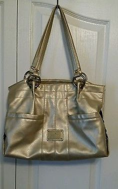 Rosetti New York Handbag shoulder bag purse Light gold Zipper RN-108833 Used, but good for a project.