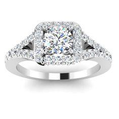 ROUND CUT 14K WHITE GOLD WEEDING RING eBay 0.72 CT DIAMOND ENGAGEMENT RING 544