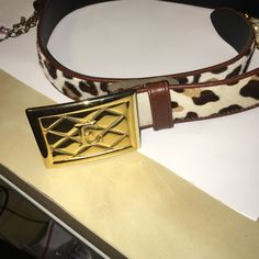 Escada gorgeous belt Animal print 37 inches from tip to tip Escada Accessories Belts