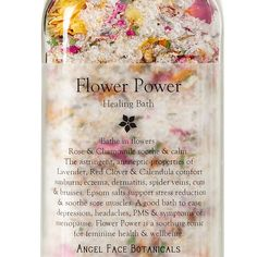 Flower Power ~ Healing Salts & Flowers ~ Organic Bath Salts with Essential Oils - Angel Face Botanicals Web Store