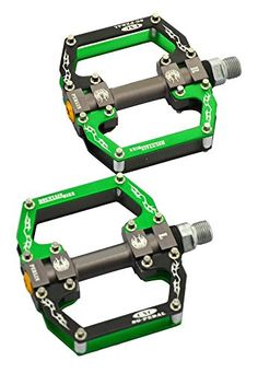 Onedayshop 1 Pair Aluminum Alloy CNC Bearing Bike Bicycle Flat Pedals MTB BMX Road Bicycles Pedals 916 Green >>> Learn more by visiting the image link. (Note:Amazon affiliate link)