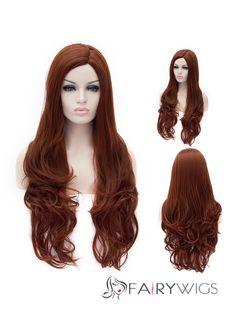 New Style Long Black Female Wavy Capless Hair Wig 29 Inch