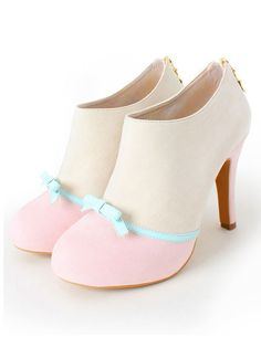 shoes cute heels pastel shoes heels with bows innocent kawaii shoes Dream Shoes, Crazy Shoes, Me Too Shoes, Pretty Shoes, Beautiful Shoes, Pink Shoes, Girls Shoes, Pastel Shoes, White Shoes
