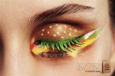 Hamburger eye shadow from Burger King Netherlands