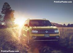 Volkswagen Atlas 2018 poster, #poster, #mousepad, #tshirt, #printcarposter