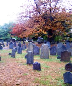 Oldest Cemetery in Salem, Mas. Nathaniel Hawthorn father is buried here. I loved the quiet morning before others arrived. It was very peaceful.