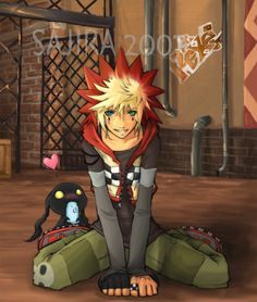 Roxel is a boy born from roxas and axel. he is fanmade but is known throughout the KH community.