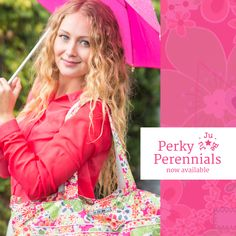 Ju-Ju-Be is giving away an entire collection of Perky Perennials! One of every bag made in this print...