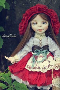 Купить Красная Шапочка - ярко-красный, кукла, красная шапочка, сказка, кукла ручной работы