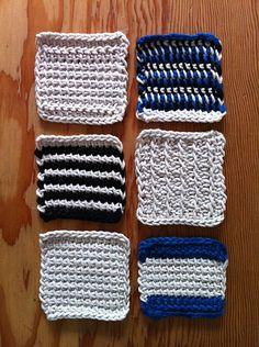 tunisian crochet coasters