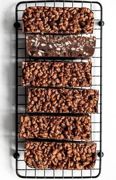 Vegan Chocolate Crunch Bars - UK Health Blog - Nadia's Healthy Kitchen