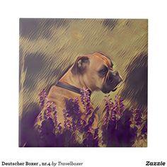 Deutscher Boxer , nr.4 Fliese Dogs, Animals, Tiles, Pet Dogs, Animales, Animaux, Doggies, Animal, Dog