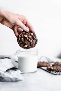 Chewy Chocolate Peanut Butter Chip Cookies are a comforting, crowd-pleasing winter cookie. Perfect dipped in a nice glass of cold milk! Chocolate Chip Cookies, Peanut Butter Chip Cookies, Chocolate Peanut Butter, Chocolate Chocolate, Cookie Recipes, Dessert Recipes, Dessert Healthy, Bakery Recipes, Sweet Desserts