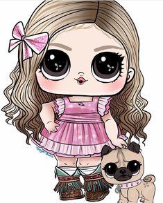 Knitting Dolls Clothes, Cute Clipart, Lol Dolls, Princesas Disney, Rock Art, Funny Cute, Cute Wallpapers, Cute Drawings, Cute Kids
