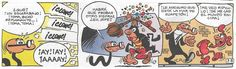 """Viñetas de la historieta «Baile de Trajes» de Francisco Ibáñez. Fue publicado el 8 de Febrero de 1971. (Mortadelo Extras Bruguera - Extra Carnaval 1971). La he encontrado en el álbum nº 30 """"Objetivo eliminar al «Rana»"""" de la Colección Olé! de Ediciones B. 1ª edición 1993. 6ª edición 2006."""