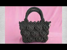 Diy Gift Box, Macrame Bag, Macrame Design, Handmade Bags, Straw Bag, Purses And Bags, Dior, Knitting, Crafts