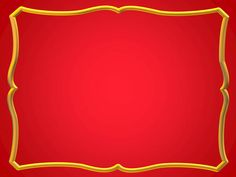Free Frames and borders  png | Red With Gold Frame Powerpoint Design Template