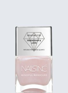 A long wear, high shine nail polish formulation infused with real gemstones for spiritual effect.