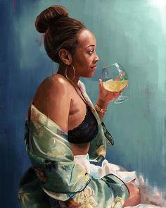 Black Love Art, Black Girl Art, Art Girl, African American Artist, American Artists, Strong Black Man, Black People, Beautiful Paintings, Female Art