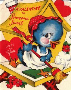 Vintage 1955 A Valentine To Someone Sweet by poshtottydesignz. , via Etsy.